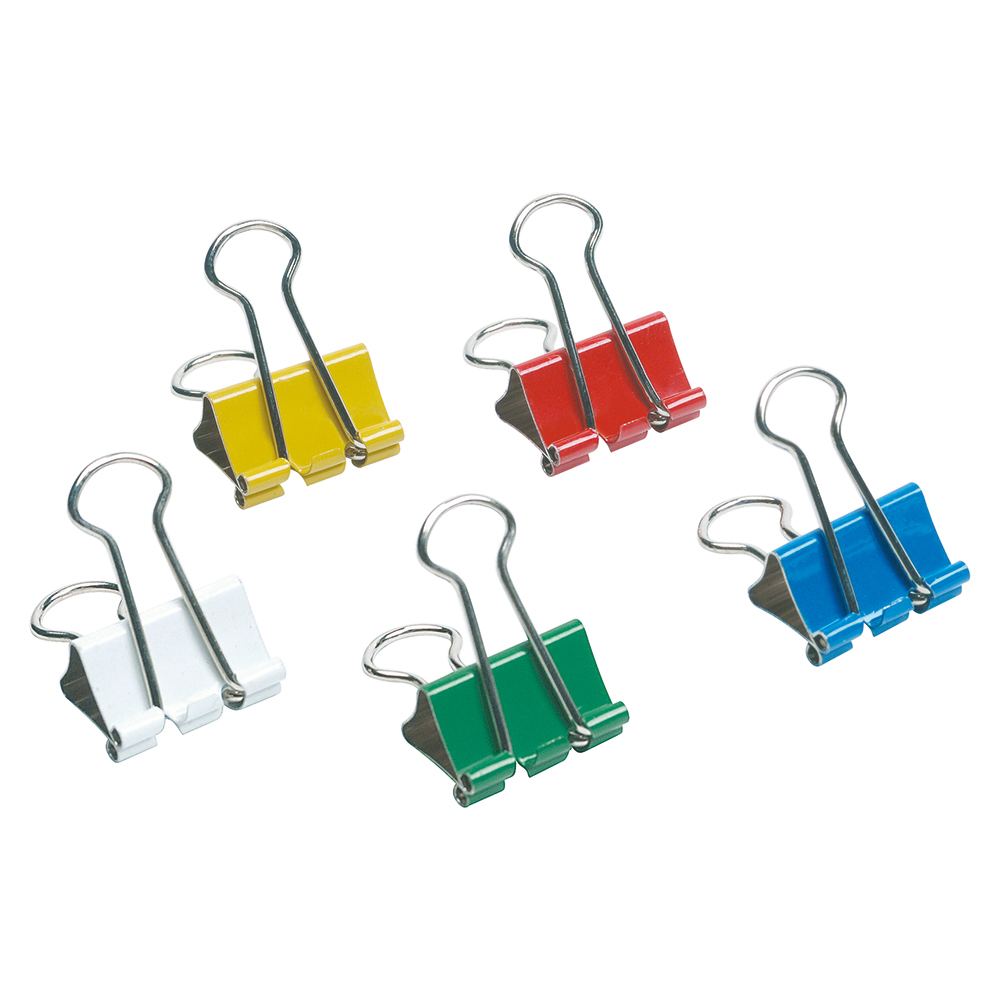 Image for Business Foldback Clips 19mm Assorted [Pack 12]