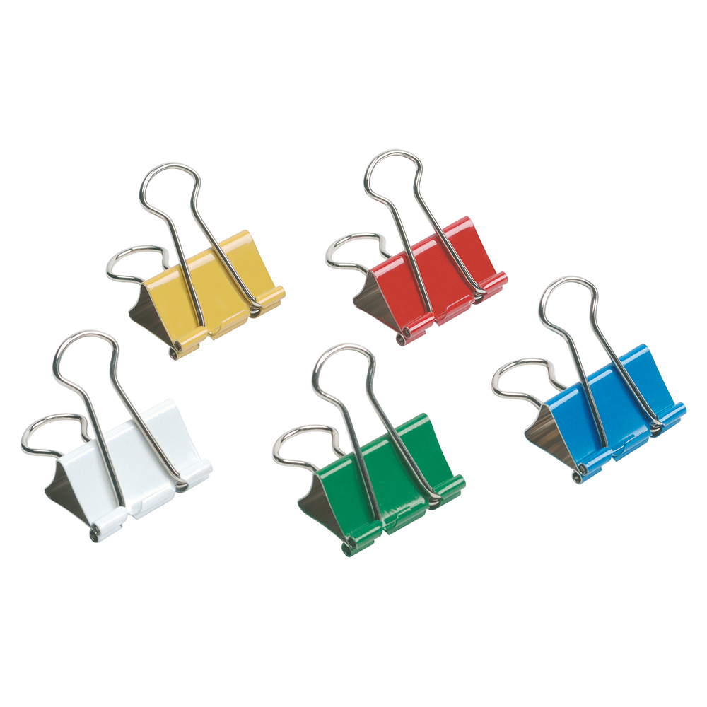 Image for Business Foldback Clips 32mm Assorted [Pack 12]