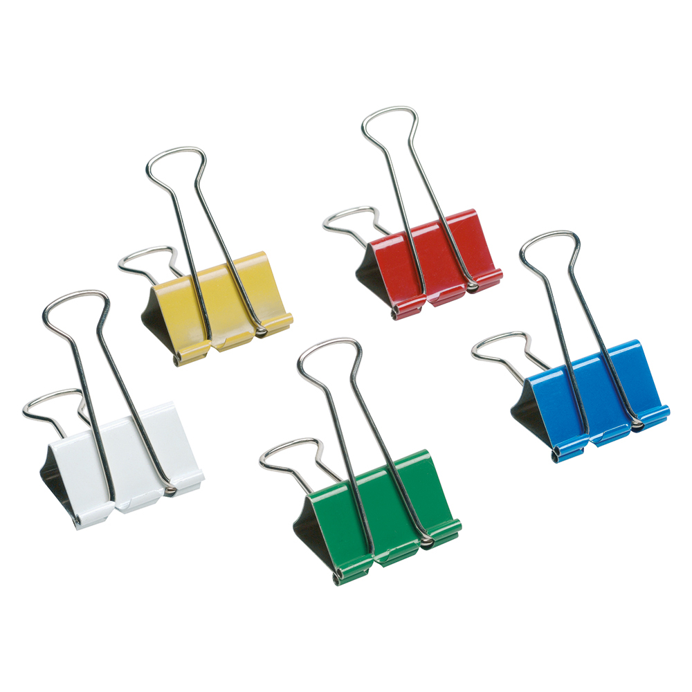 Image for Business Foldback Clips 41mm Assorted [Pack 12]