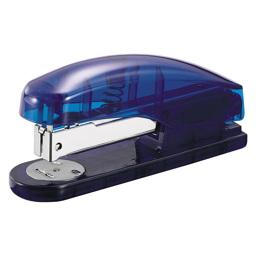 Business Half Strip Stapler 20 Sheets Blue Transparent