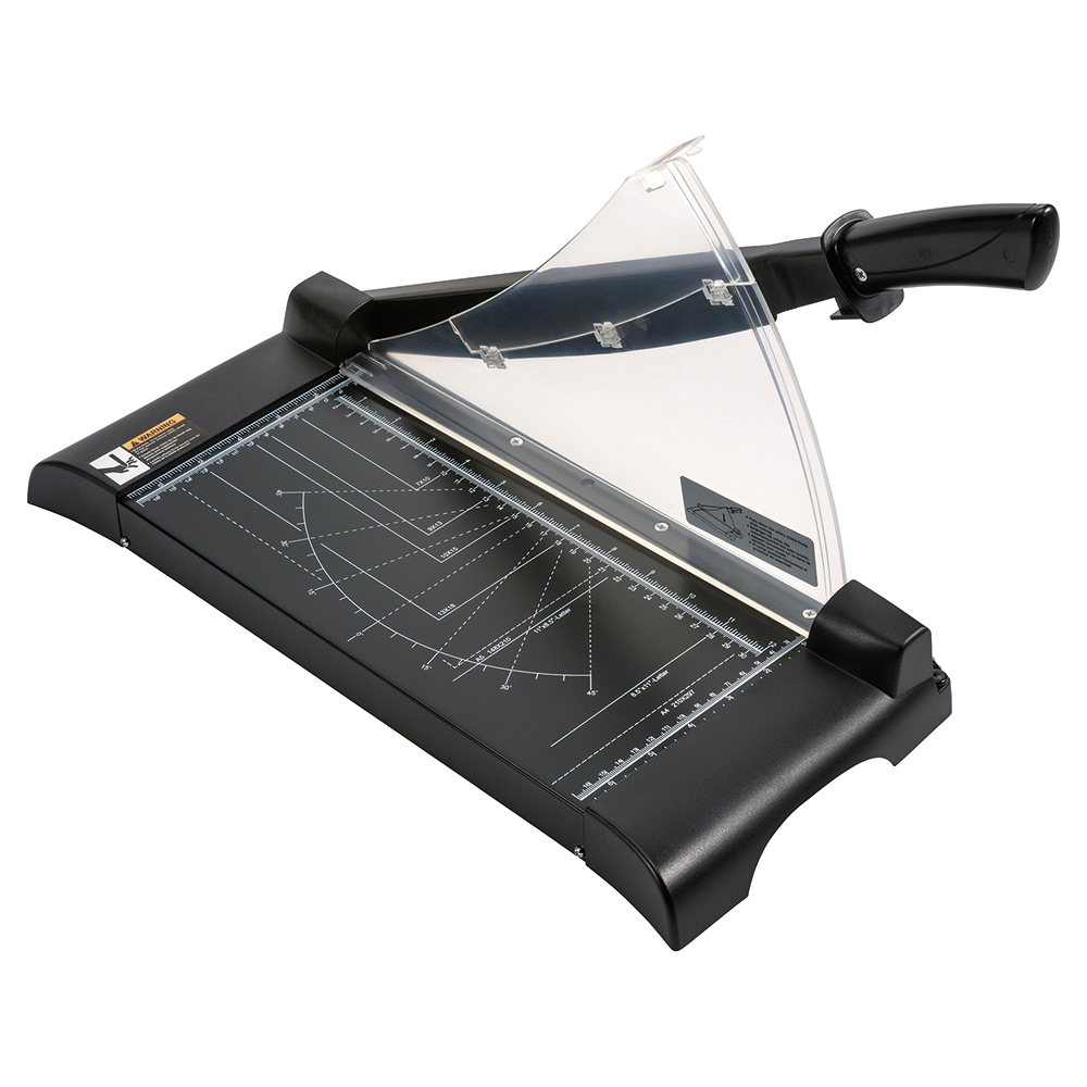 Business Paper Guillotine Cutter II 10 Sheet Capacity A4 Table size 245x335x10mm Silver/Black