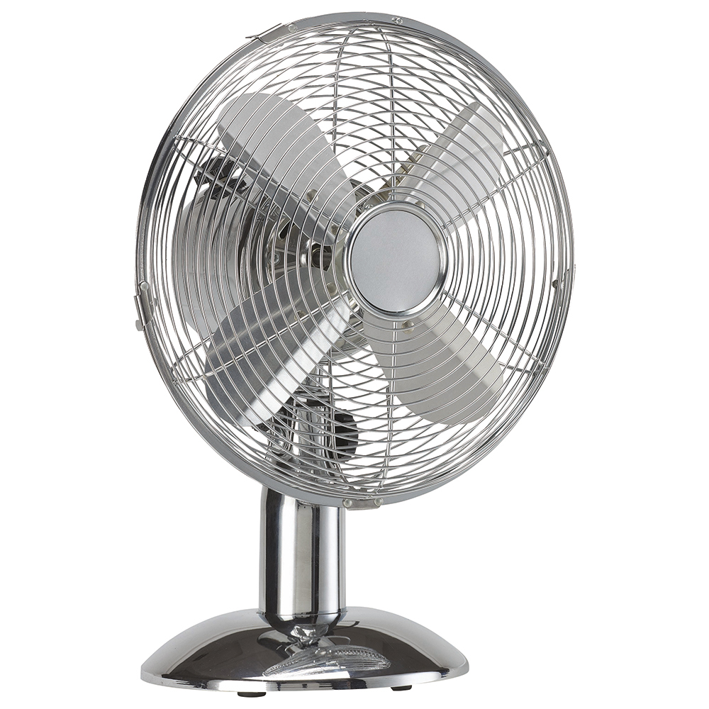 Image for Business Desk Fan Oscillating 48.5Db 3 Speed 45 Watts H425mm Dia.305mm Chrome