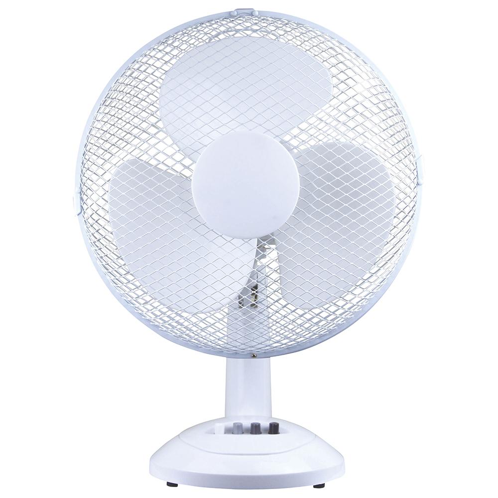 Image for Business Desk Fan Oscillating Tilt and Lock 48.5Db 3 Speed H480mm Dia.305mm