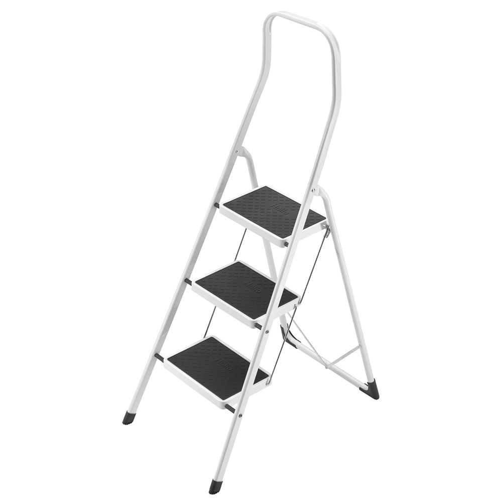 Business Safety Steps Folding Safety Rail H0.5m 3 Treads Capacity 150kg H2.49m 6.6kg