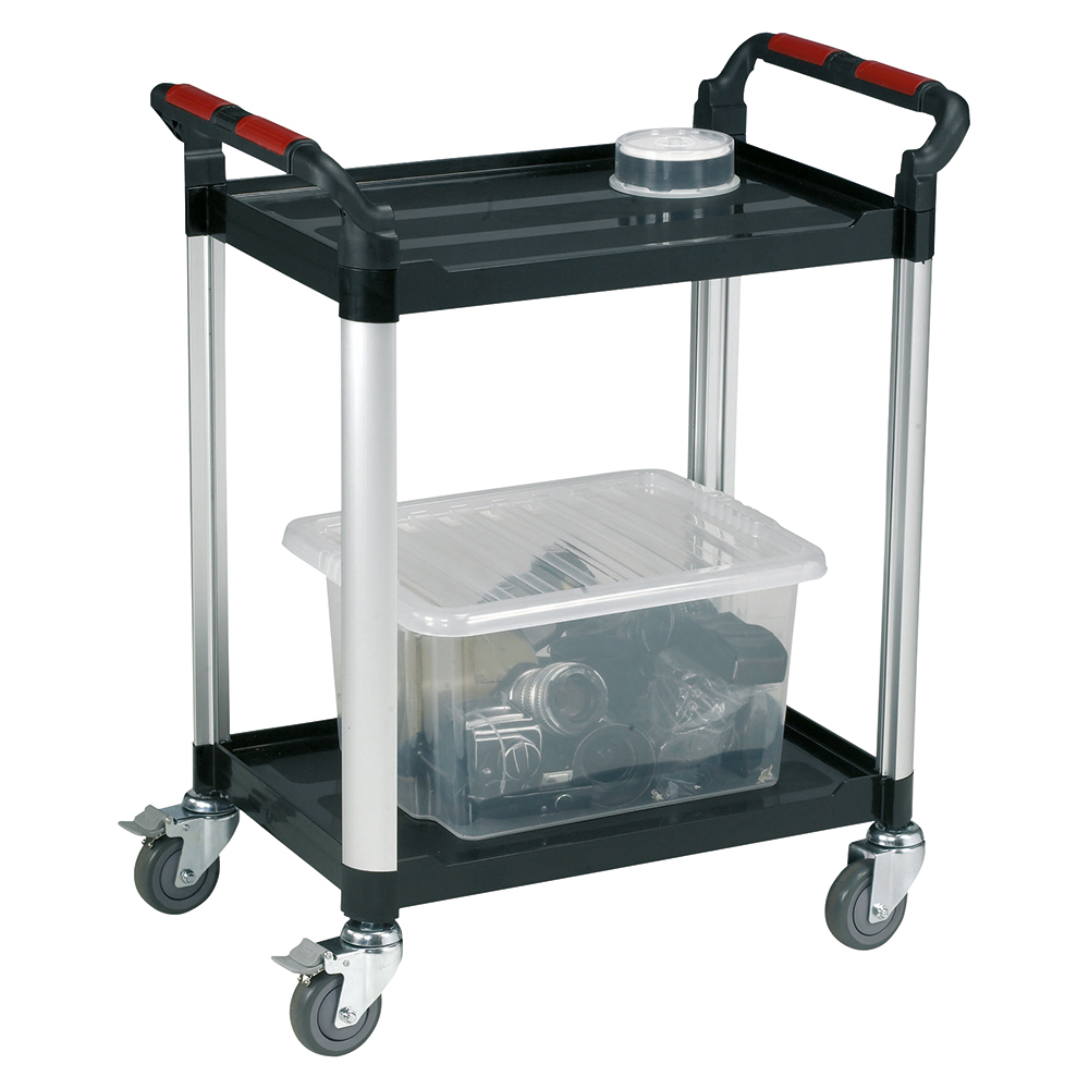 Image for Business Utility Tray Trolley Standard 2 Shelf Capacity 100kg