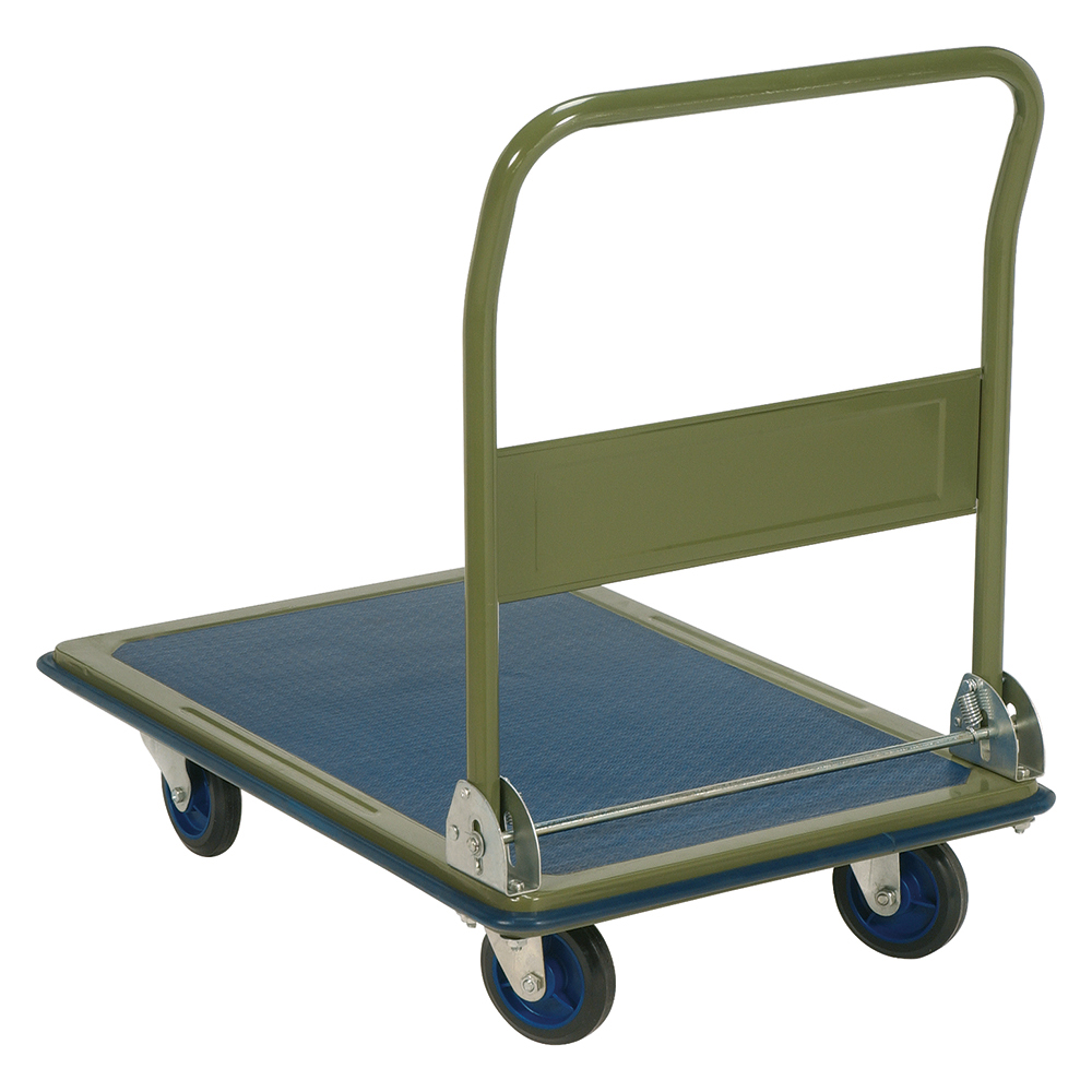 Image for Business Platform Truck Heavy-duty Capacity 300kg Baseboard W616xL916mm Blue and Grey