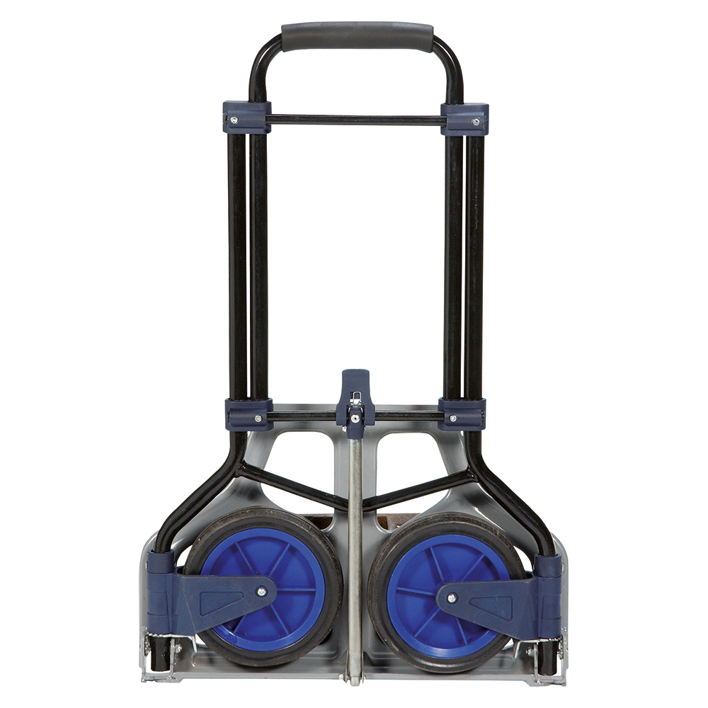 Image for Business Hand Trolley Folding Capacity 70kg Foot Size W480xL470mm Black and Blue