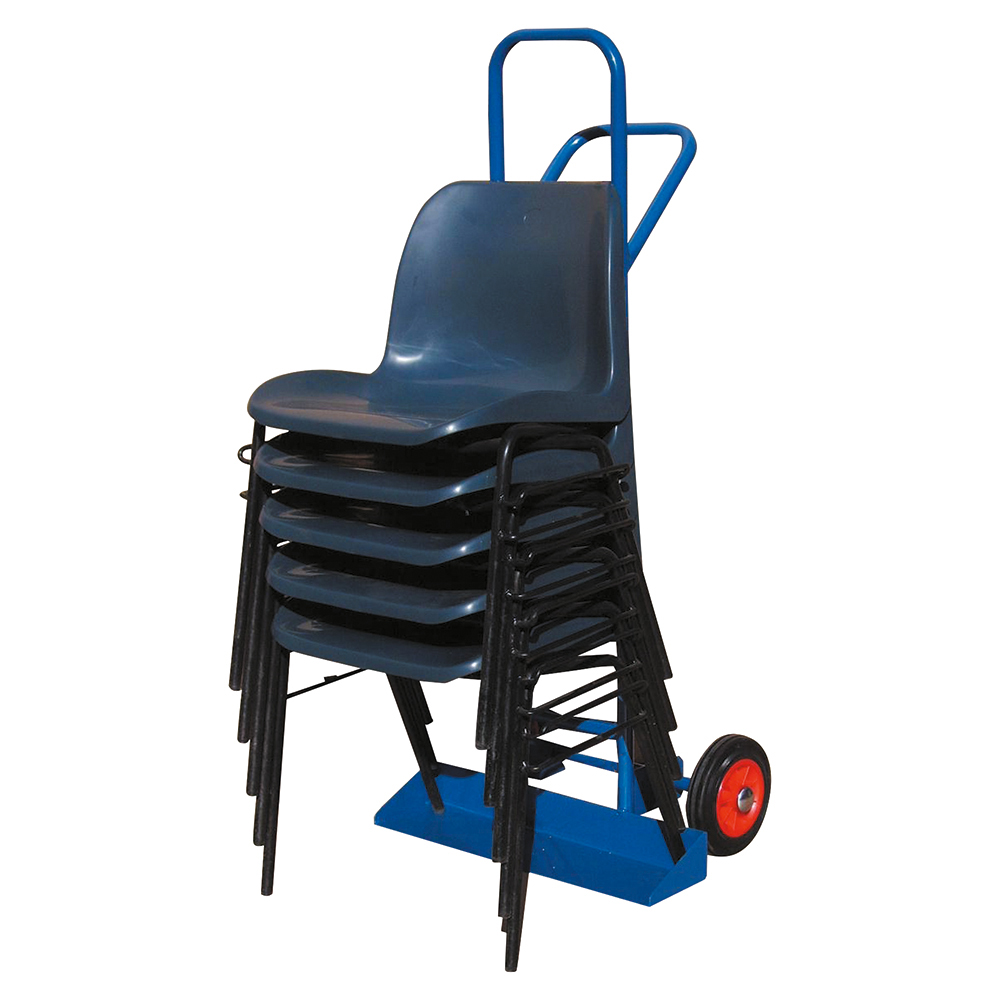 Business Carrying Trolley for Stacking Chairs with Steel Frame 2 Rubber Wheels