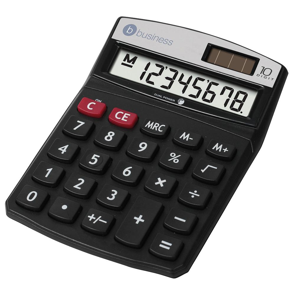 Business Calculator Desktop Battery/Solar-power 10 Digit 3 Key Memory