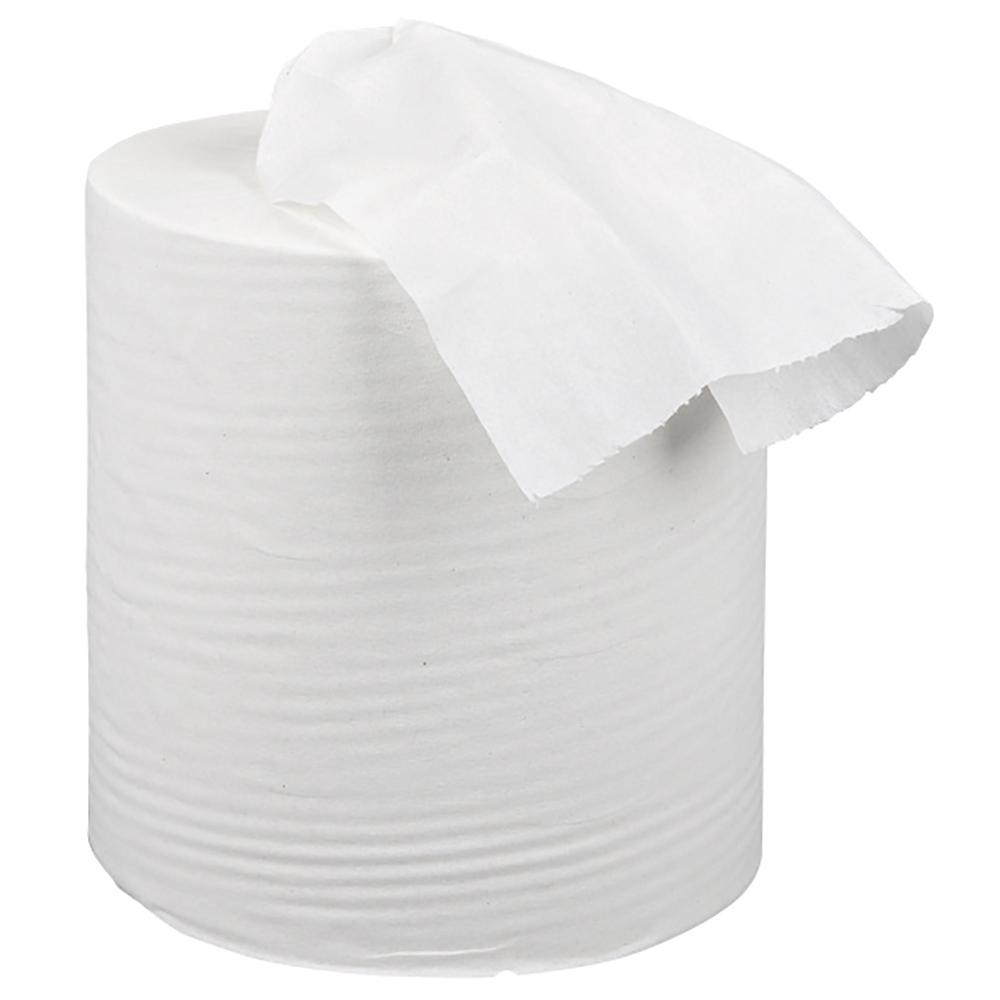 Business Centrefeed Tissue Refill for Mini Dispenser Single-ply L120mxW197mm White [Pack 12]