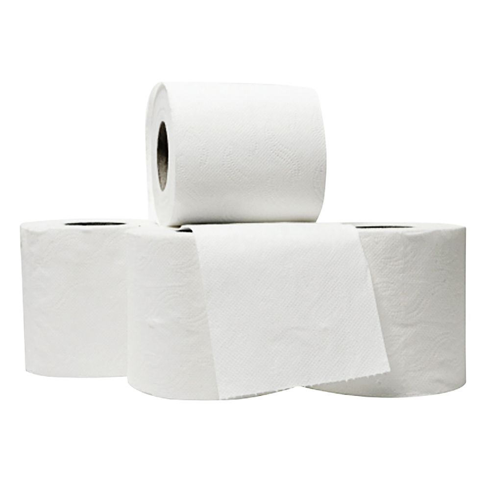 Business Luxury Toilet Rolls 2-ply 120x96mm 4 Rolls of 240 Sheets Per Pack White [Pack 10]