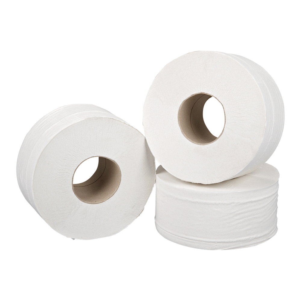 Business Jumbo Toilet Rolls Two-ply Sheet Size 250x92mm Roll Length 200m [Pack 12]