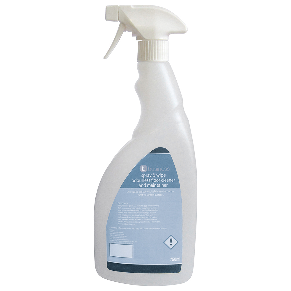 Business Pre-labelled Empty Bottle for Concentrated Odourless Floor Cleaner Capacity = 750ml