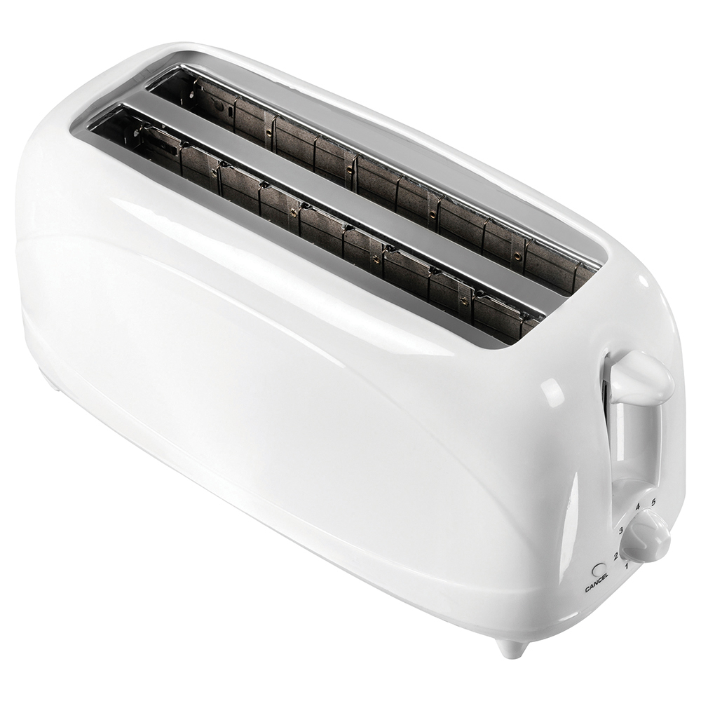 Business Toaster Cool Wall Variable Browning 2 Slot 4 Slice 1200W White