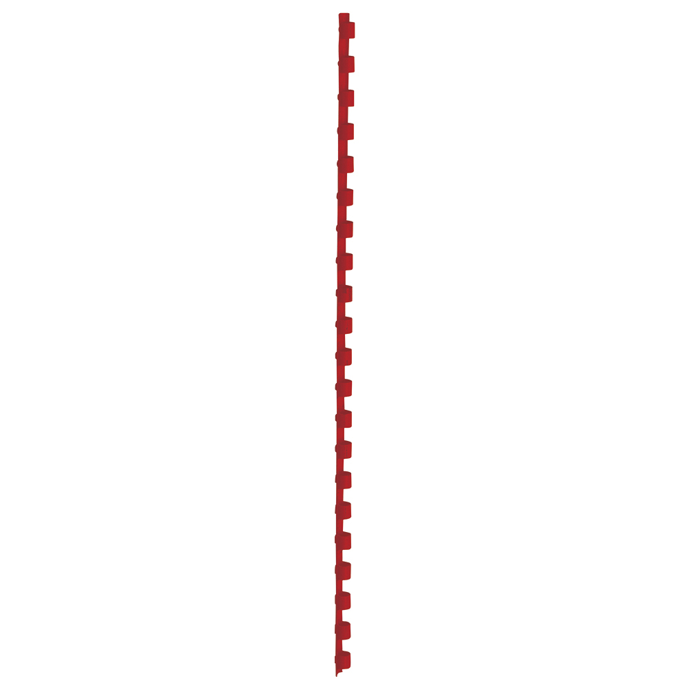 Business Binding Combs Plastic 21 Ring 45 Sheets A4 8mm Red [Pack 100]