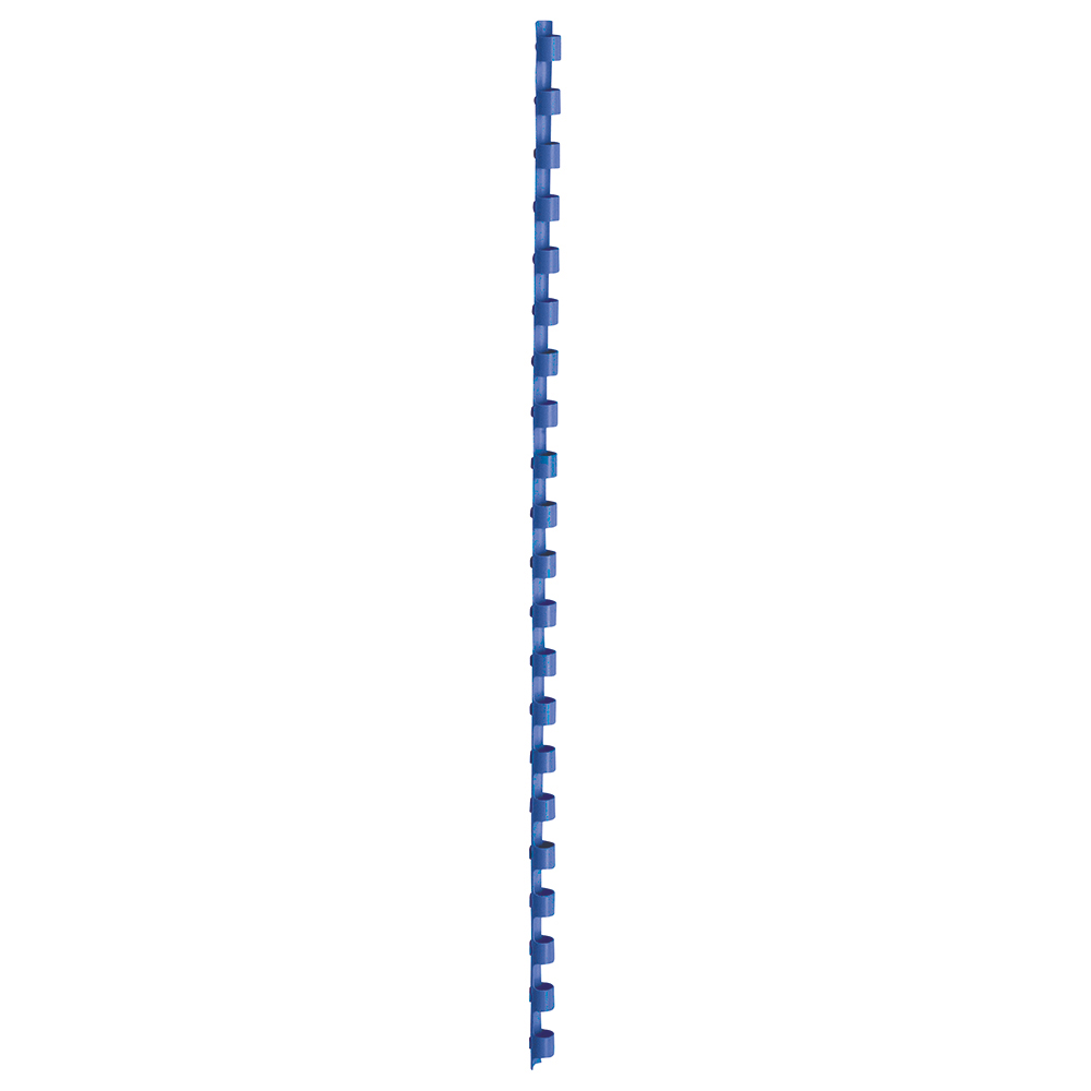 Business Binding Combs Plastic 21 Ring 45 Sheets A4 8mm Blue [Pack 100]
