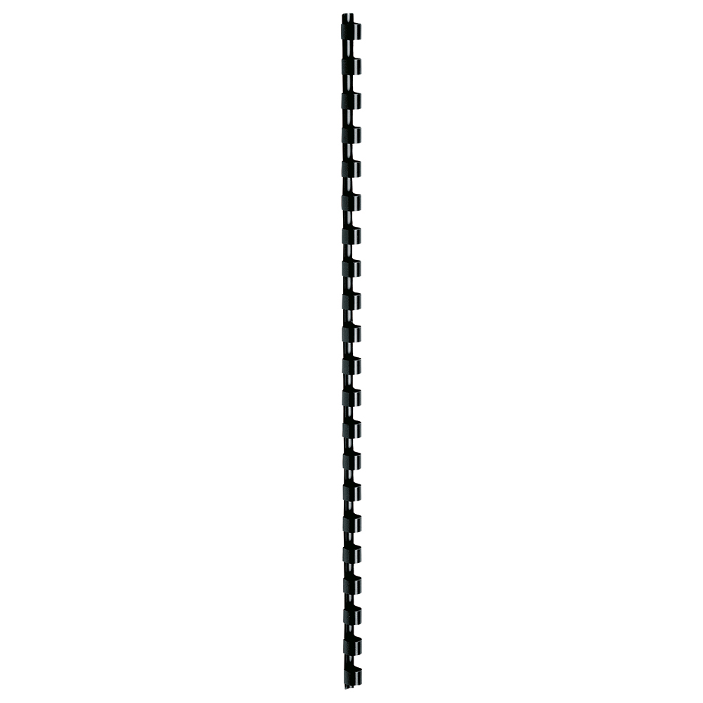 Business Binding Combs Plastic 21 Ring 25 Sheets A4 6mm Black [Pack 100]