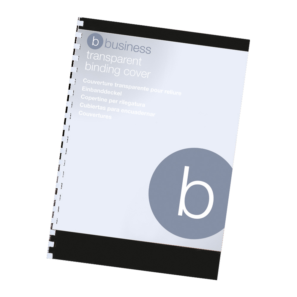 Business Comb Binding Covers PVC 250 micron A4 Clear [Pack 100]