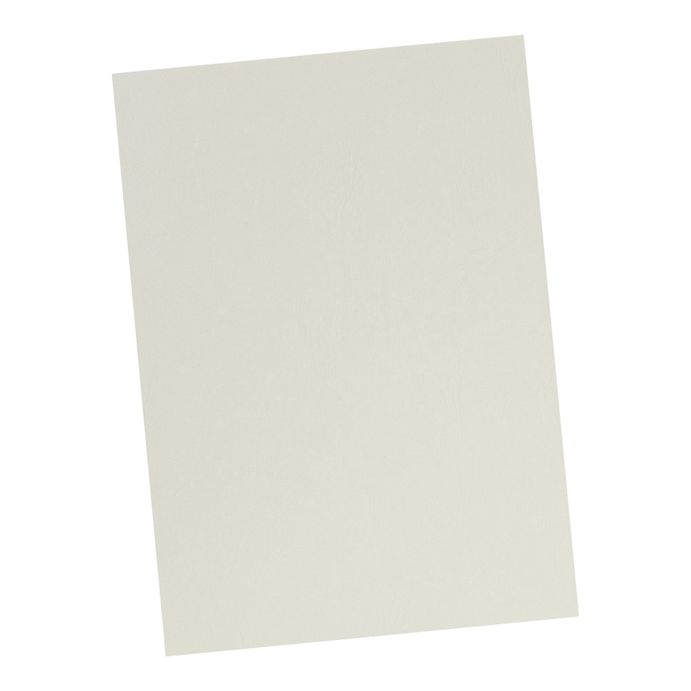 Business Binding Covers 240gsm Leathergrain A4 Ivory [Pack 100]