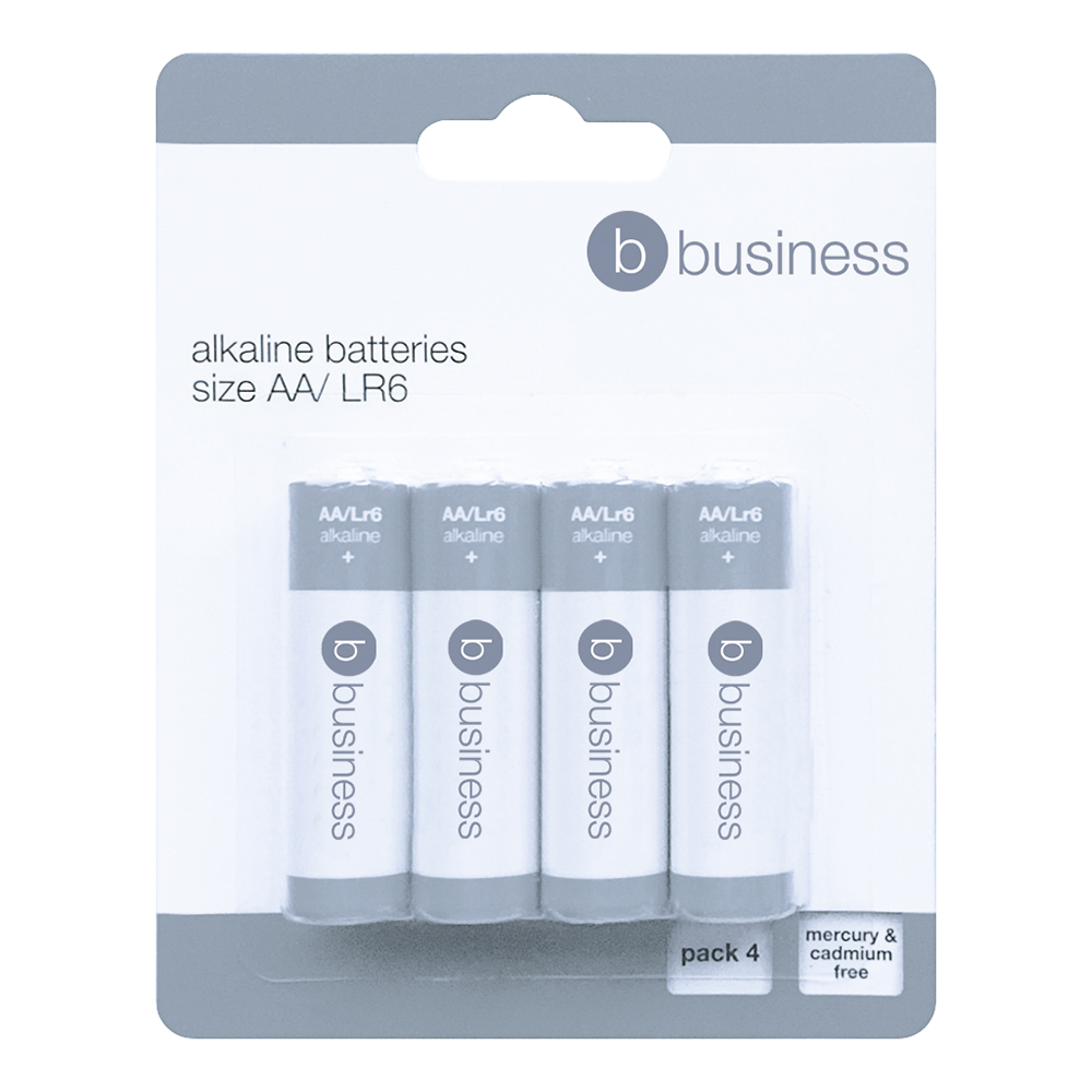 Image for Business Batteries AA [Pack 4]