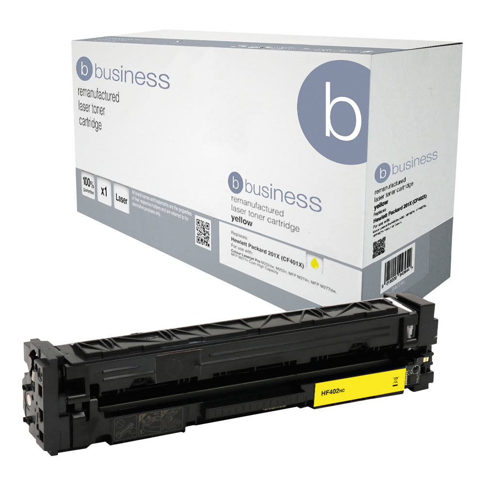 Business Compatible HP Laser Toner Cartridge 201X Yellow (Pack of 1)