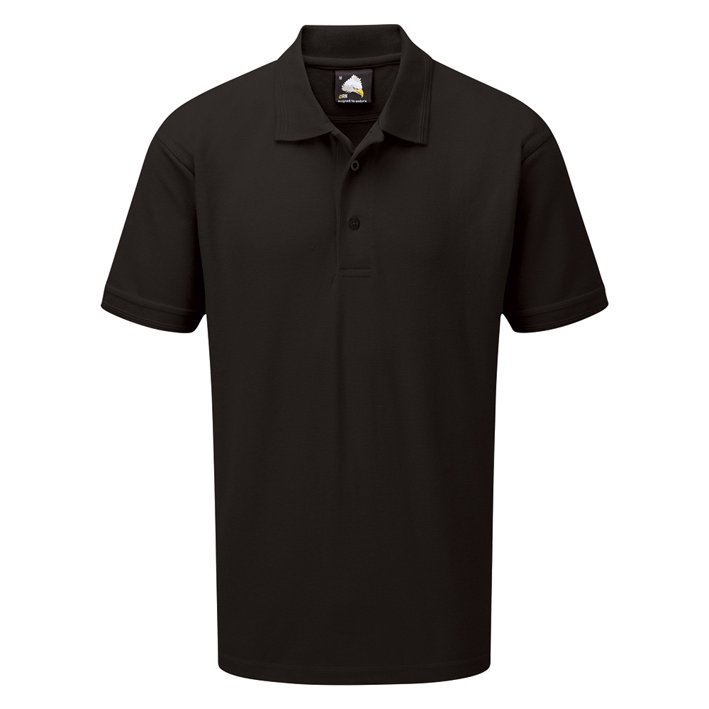 Business Polo Shirt Premium Triple Stitched XS Black (Pack of 1)