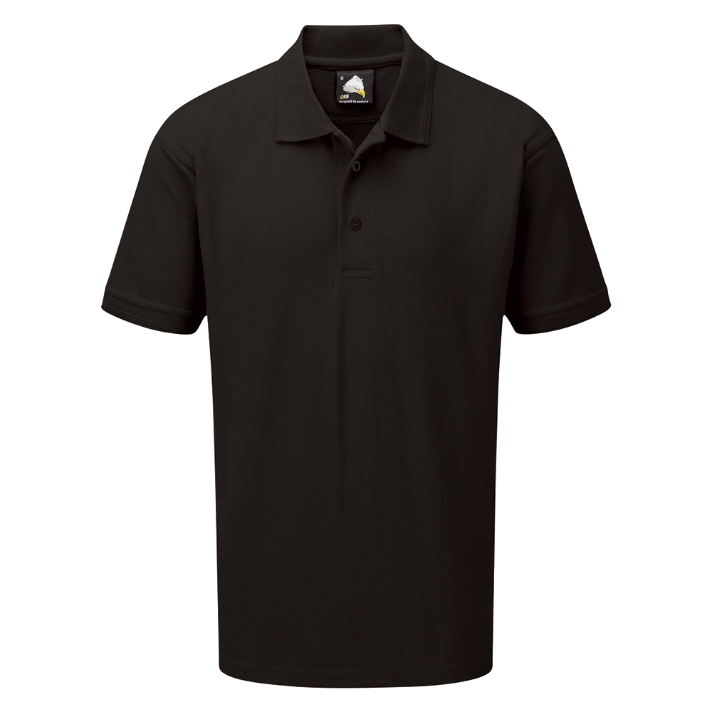 Business Polo Shirt Premium Triple Stitched 5XL Black (Pack of 1)