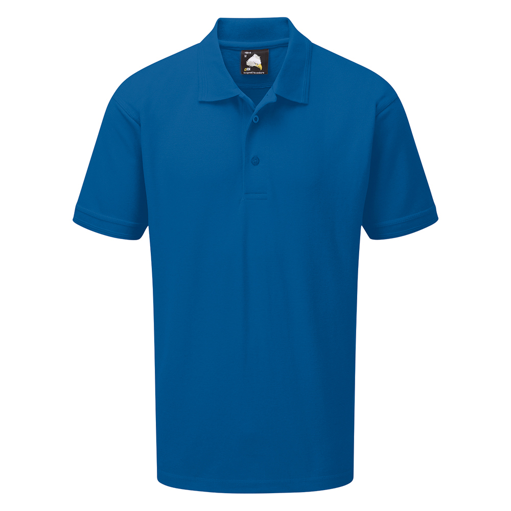 Business Polo Premium Triple Stitched Size Small Royal Blue