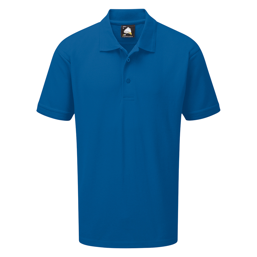 Business Polo Shirt Premium Triple Stitched Large Royal Blue (Pack of 1)