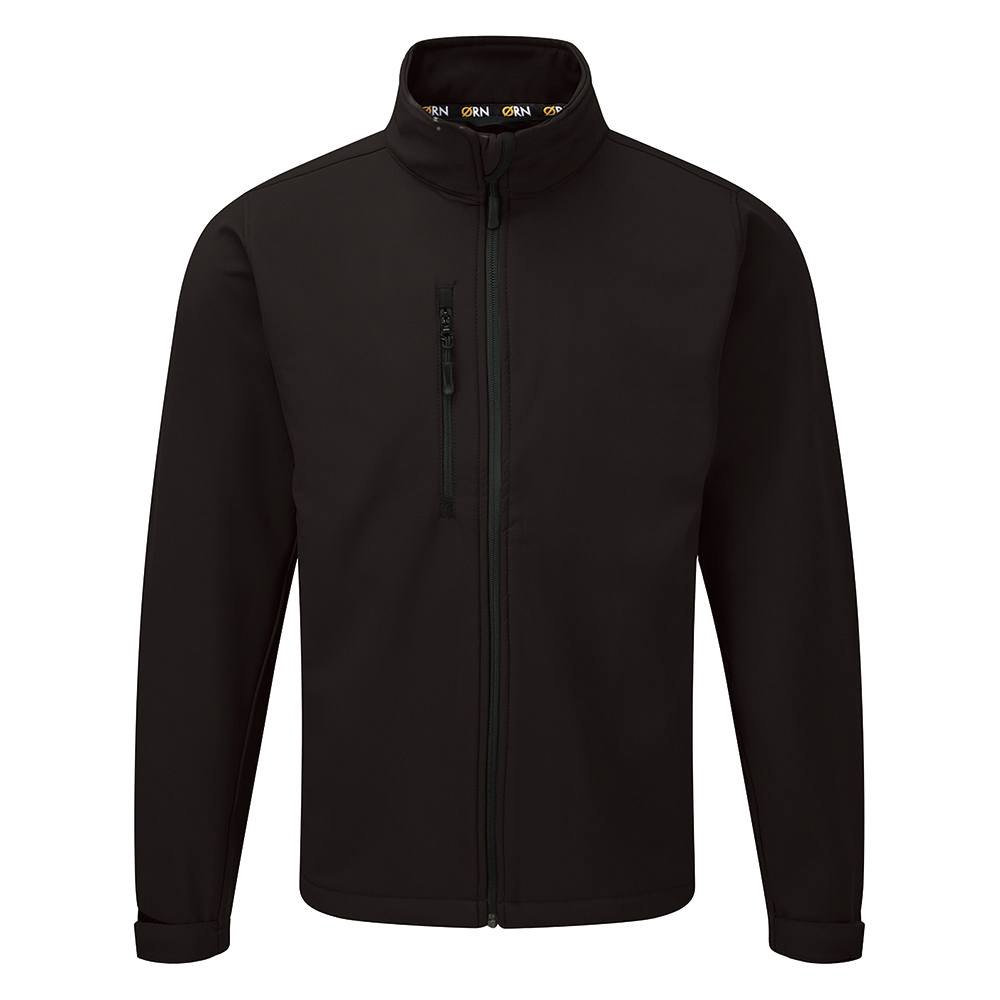 Business Soft Shell Jacket 320gsm Small Black (Pack of 1)