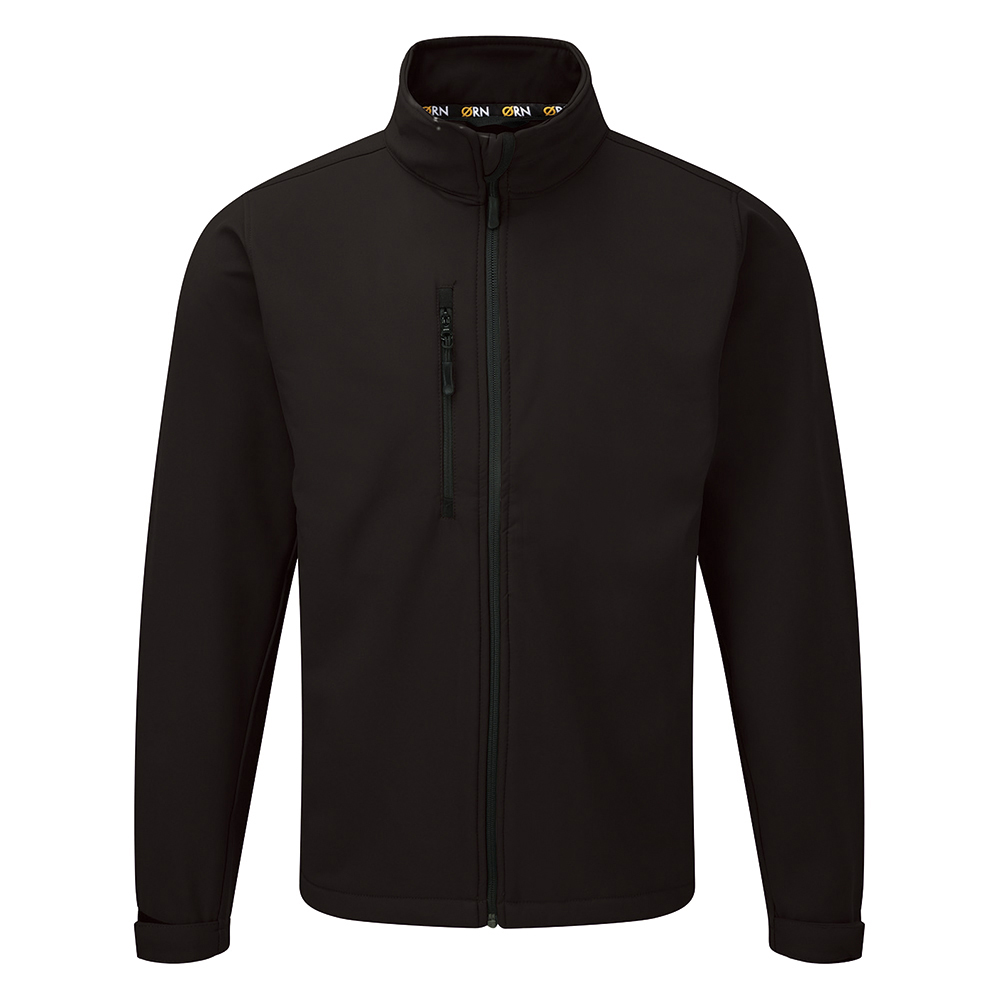 Business Soft Shell Jacket 320gsm Large Black (Pack of 1)