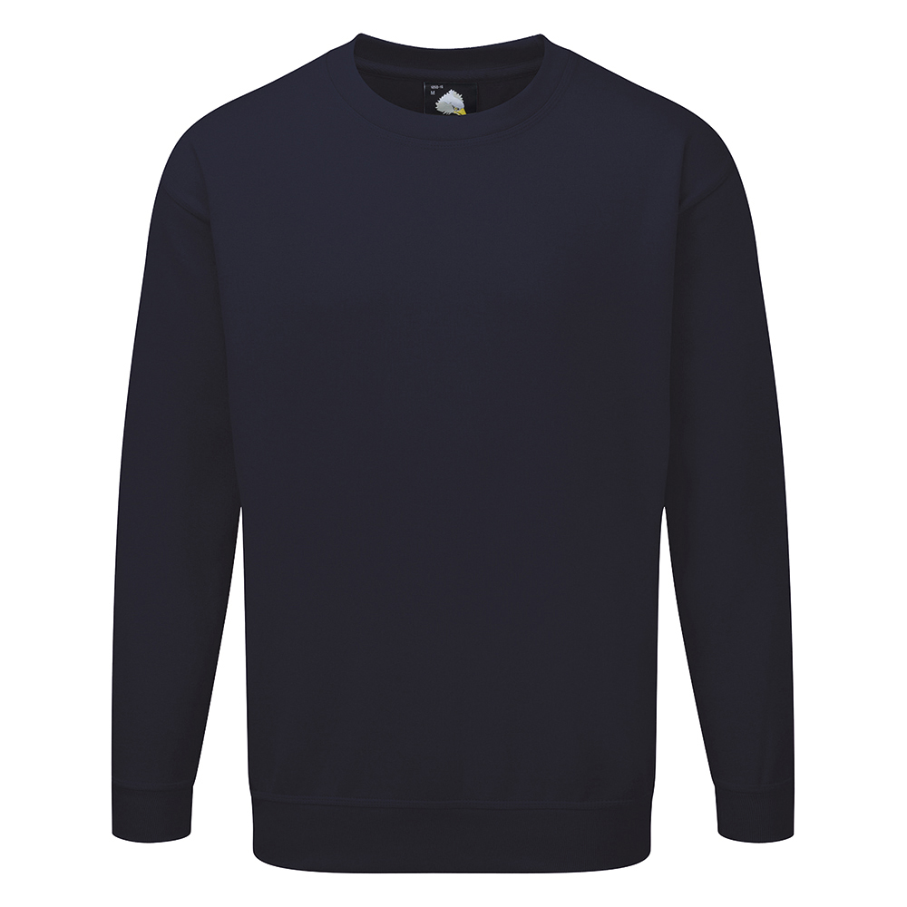 Business Sweatshirt Premium Polycotton with Fleece Inner XS Navy (Pack of 1)