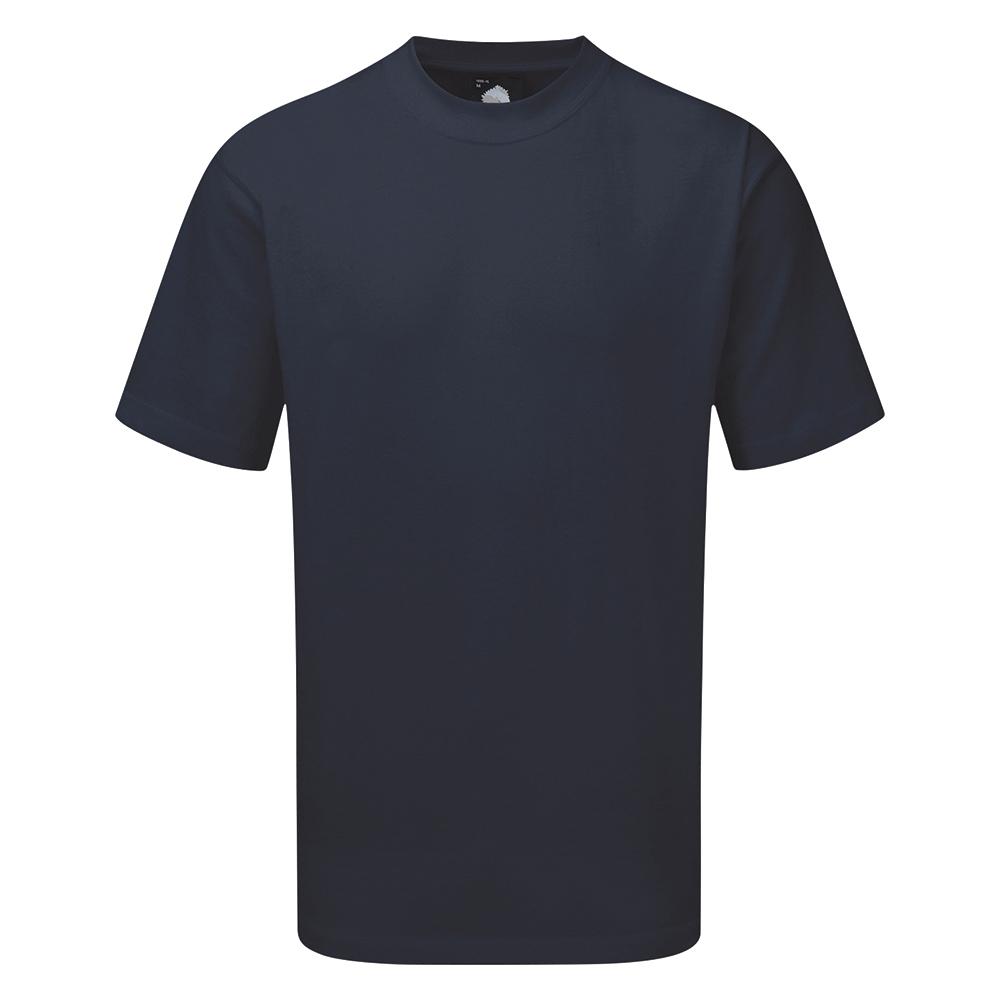 Business T Shirt Premium Polycotton Triple Stitched Size 4XL Navy
