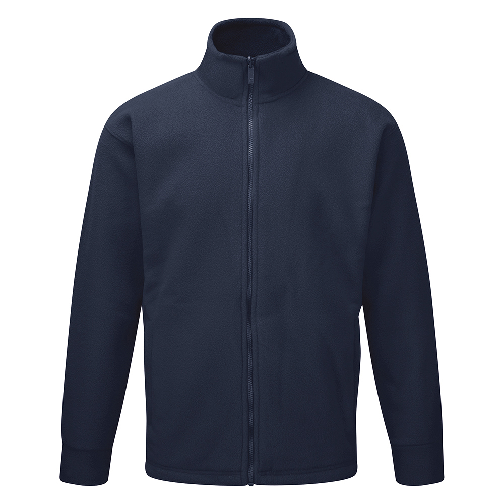 Classic Fleece Jacket Elasticated Cuffs Full Zip Front XS Navy Ref FLJNXS *Approx 3 Day Leadtime*