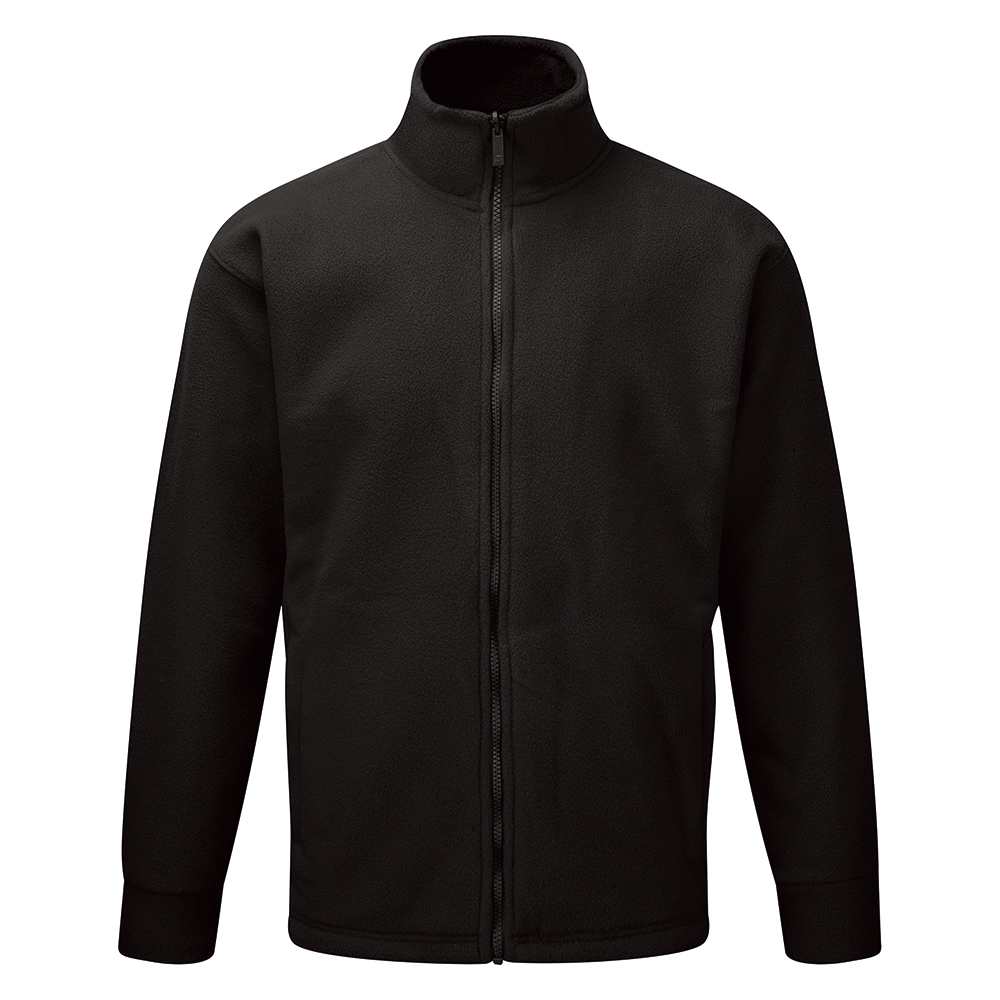 Classic Fleece Jacket Elasticated Cuffs Full Zip Front 5XL Black Ref FLJBL5XL *Approx 3 Day Leadtime*