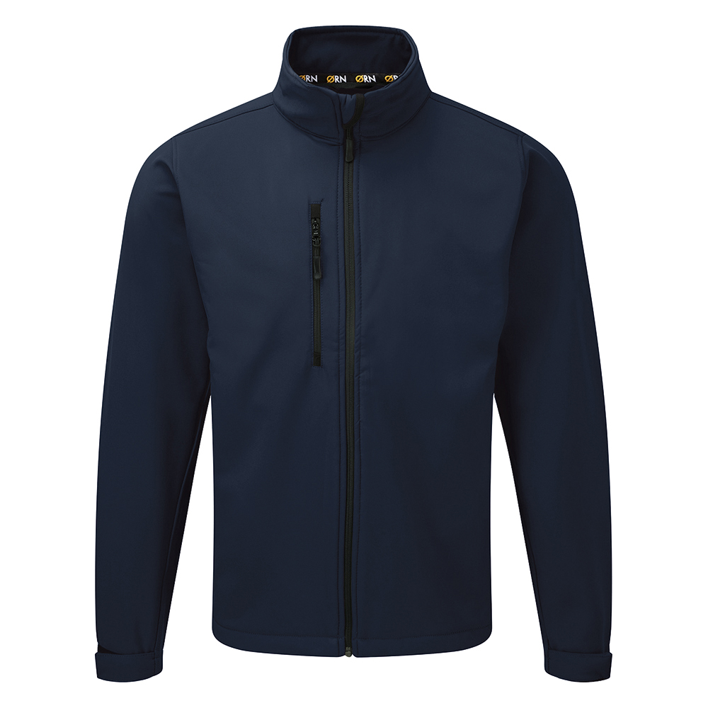Click Workwear Soft Shell Jacket Water Resistant Windproof 2XL Navy Ref SSJNXXL *Approx 3 Day Leadtime*