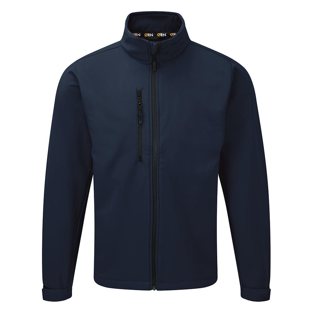 Click Workwear Soft Shell Jacket Water Resistant Windproof 3XL Navy Ref SSJNXXXL *Approx 3 Day Leadtime*