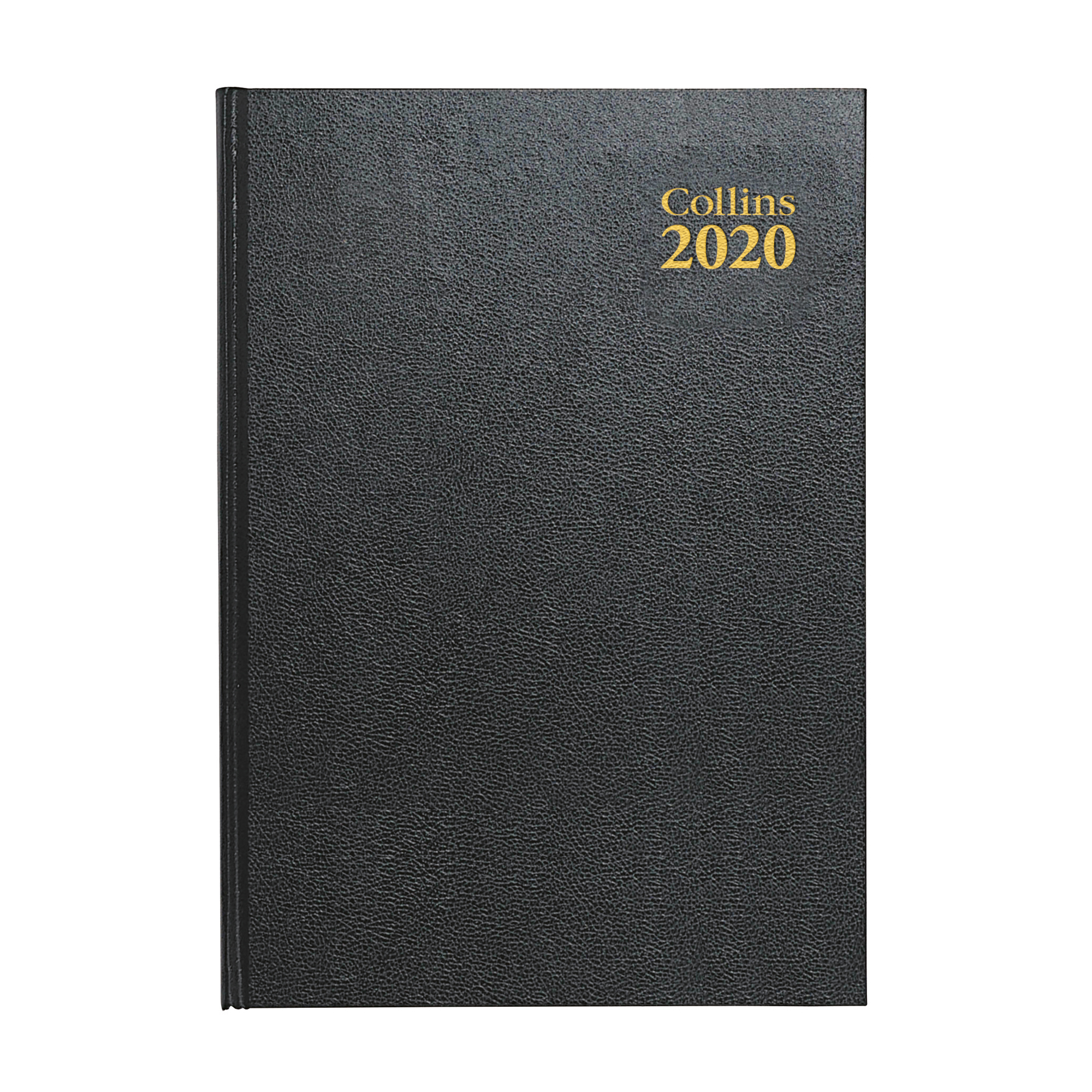 Collins 2020 Desk Diary 2 pages per day Sewn Binding A4 297x210mm Black Ref 47 Blk 2020
