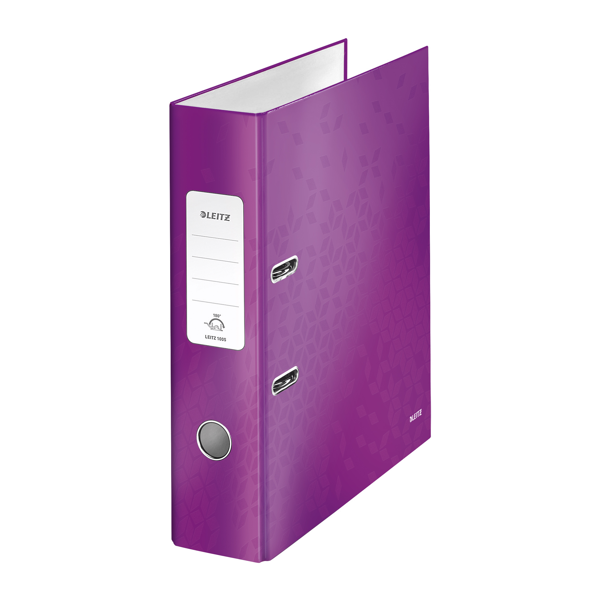Lever Arch Files Leitz WOW Lever Arch File 80mm Spine for 600 Shts A4 Purple Ref 10050062 Pack 10 REDEMPTION Apr-Jun20