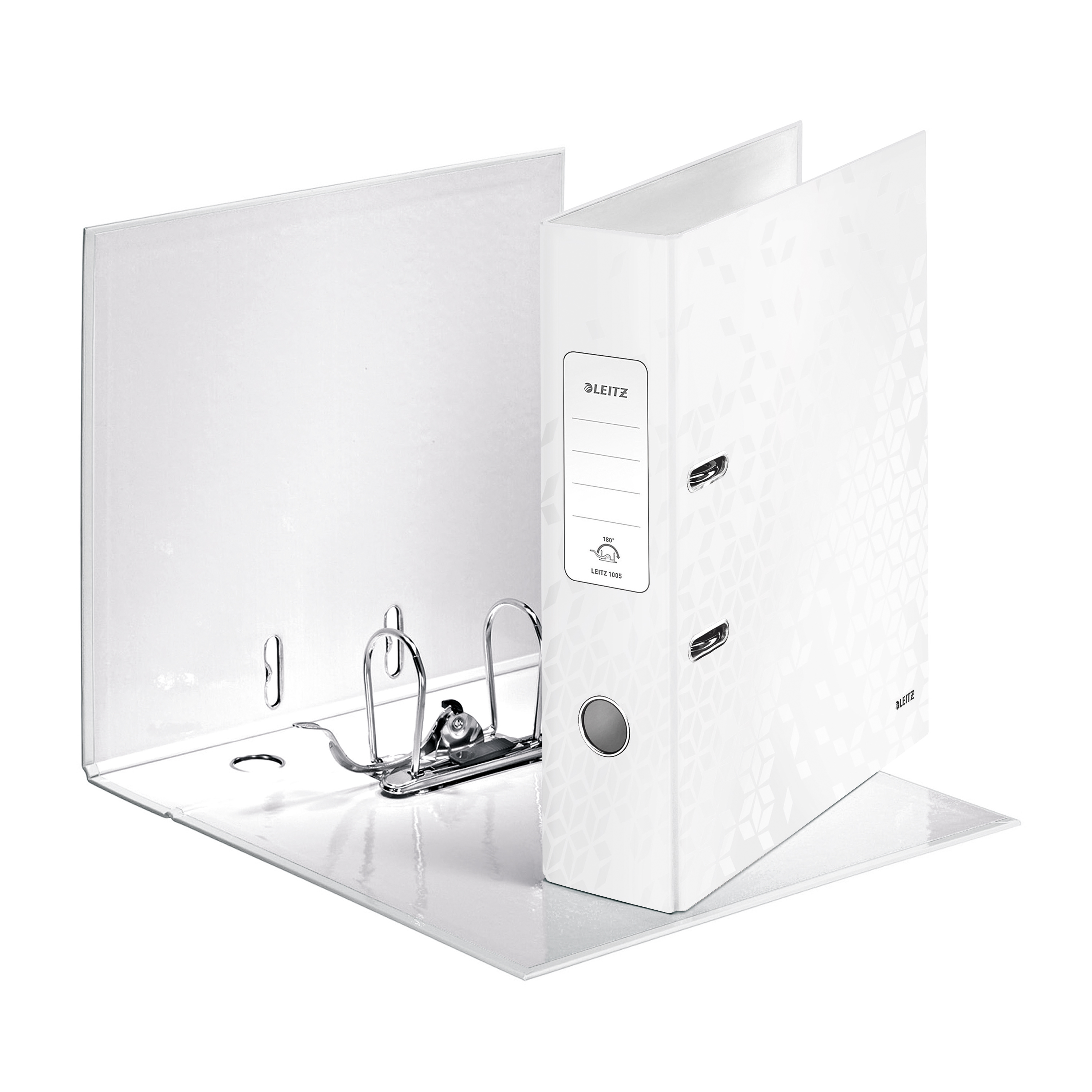 Leitz WOW Lever Arch File 80mm Spine for 600 Sheets A4 White Ref10050001 Pack 10 REDEMPTION Oct-Dec19