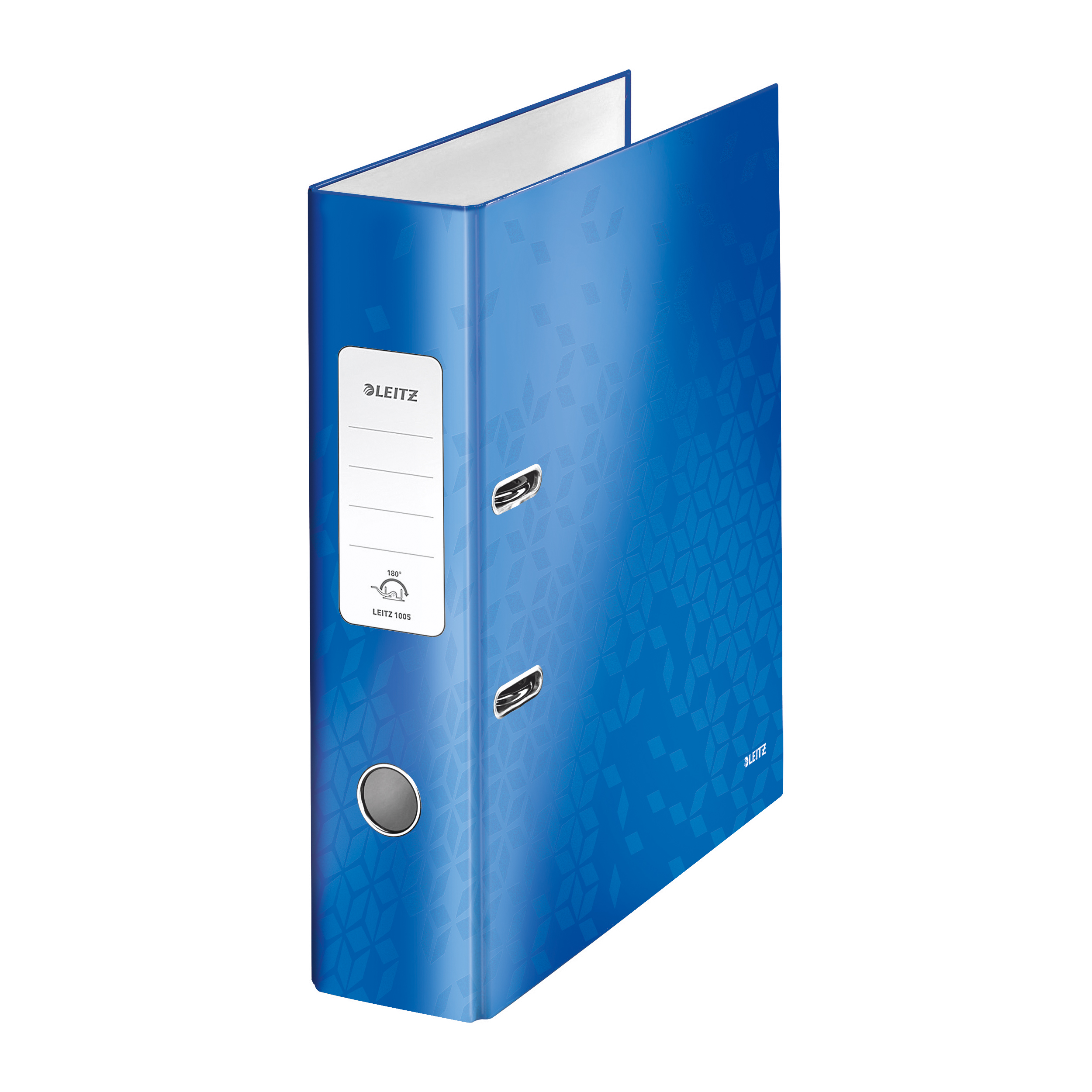 Leitz WOW Lever Arch File 80mm Spine for 600 Sheets A4 Blue Ref 10050036 Pack 10 REDEMPTION Oct-Dec19