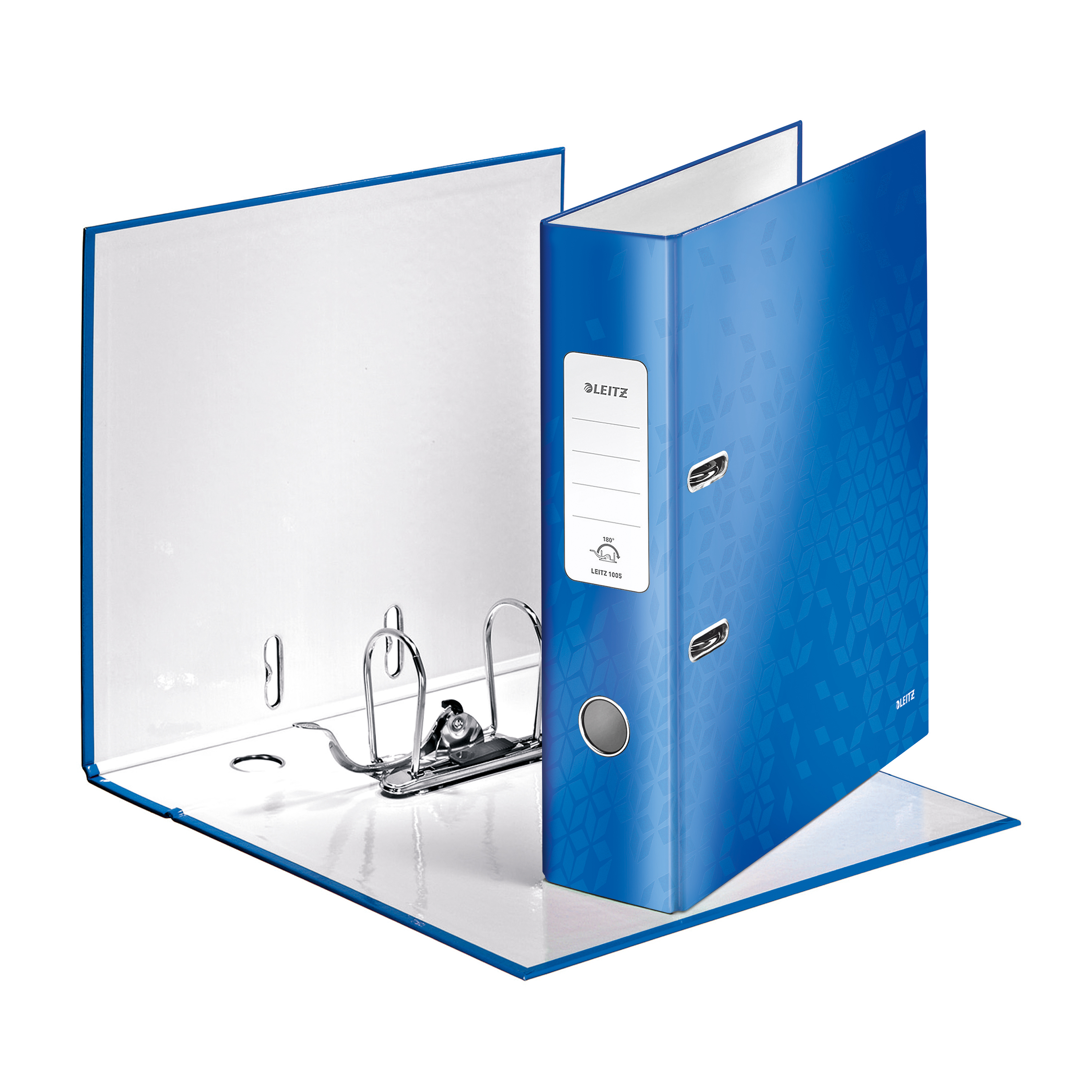 Leitz WOW Lever Arch File 80mm Spine for 600 Sheets A4 Blue Ref 10050036 [Pack 10] [REDEMPTION] Apr-Jun20