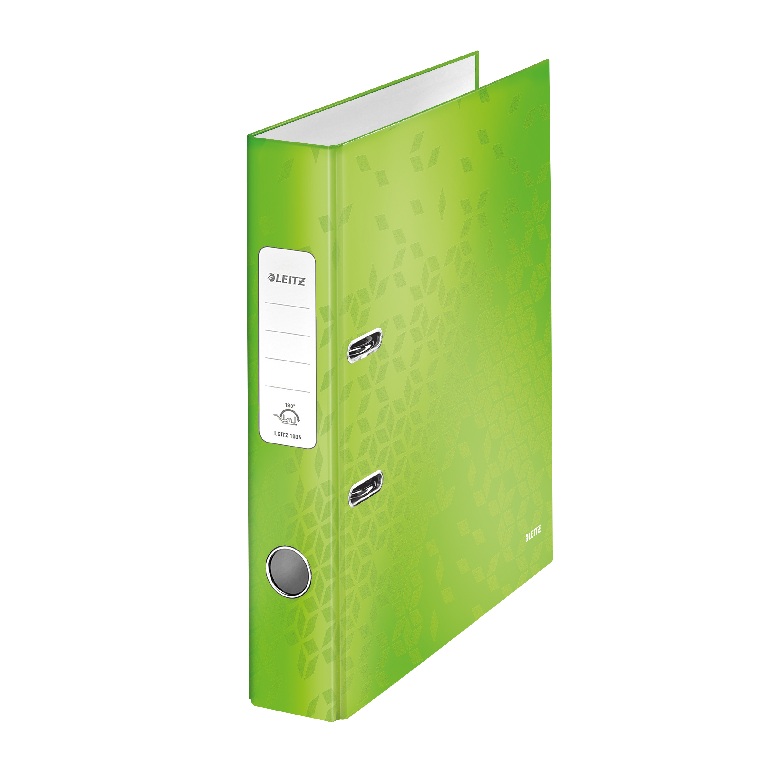 Lever Arch Files Leitz WOW Lever Arch File 80mm Spine for 600 Sheets A4 Green Ref 10050054 Pack 10REDEMPTION Apr-Jun20