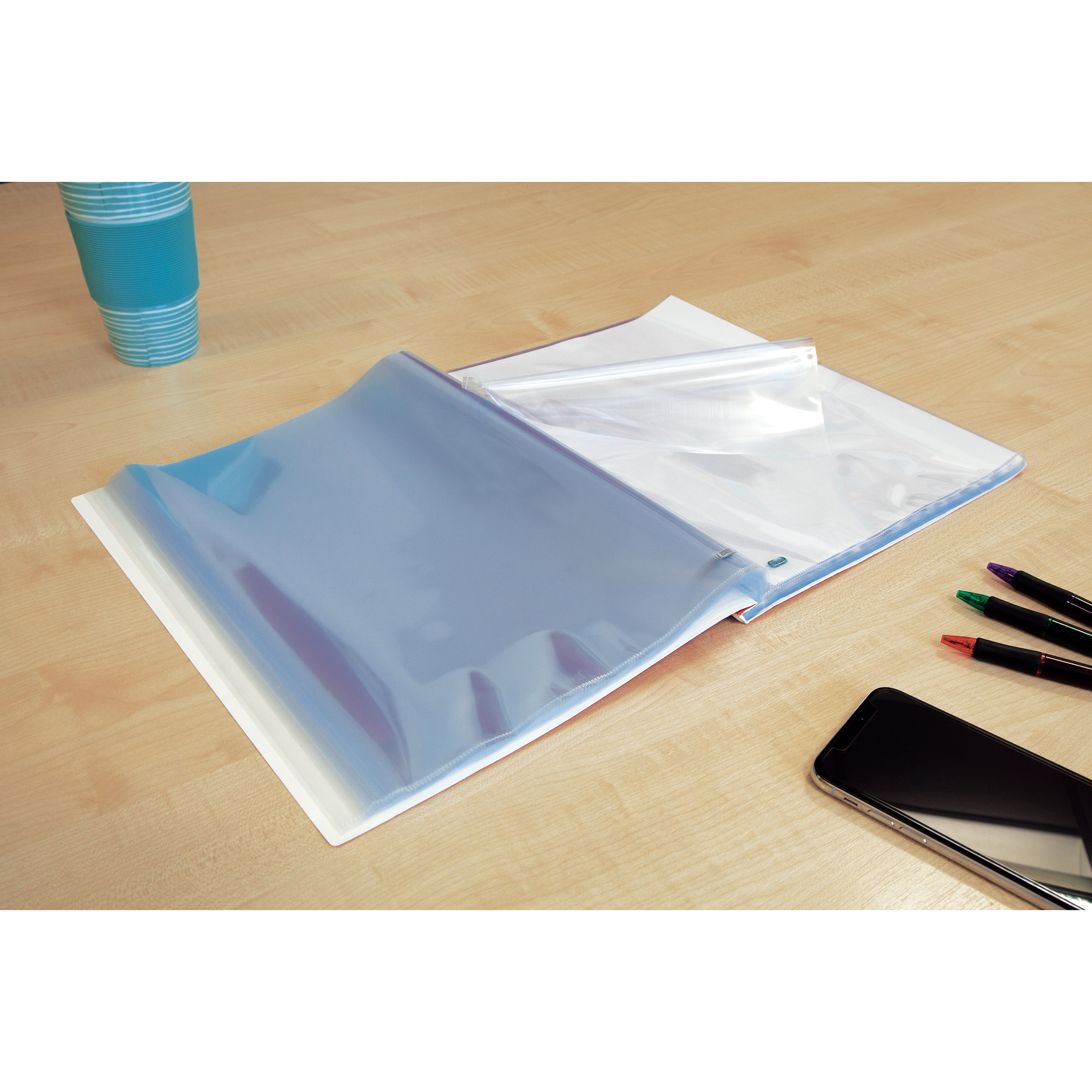 File pockets or accessories Oxford Punched Pocket Pad 60 Pockets A4 Glass Clear Ref 400129426_XX1220 2 for 1 Jan 12/20