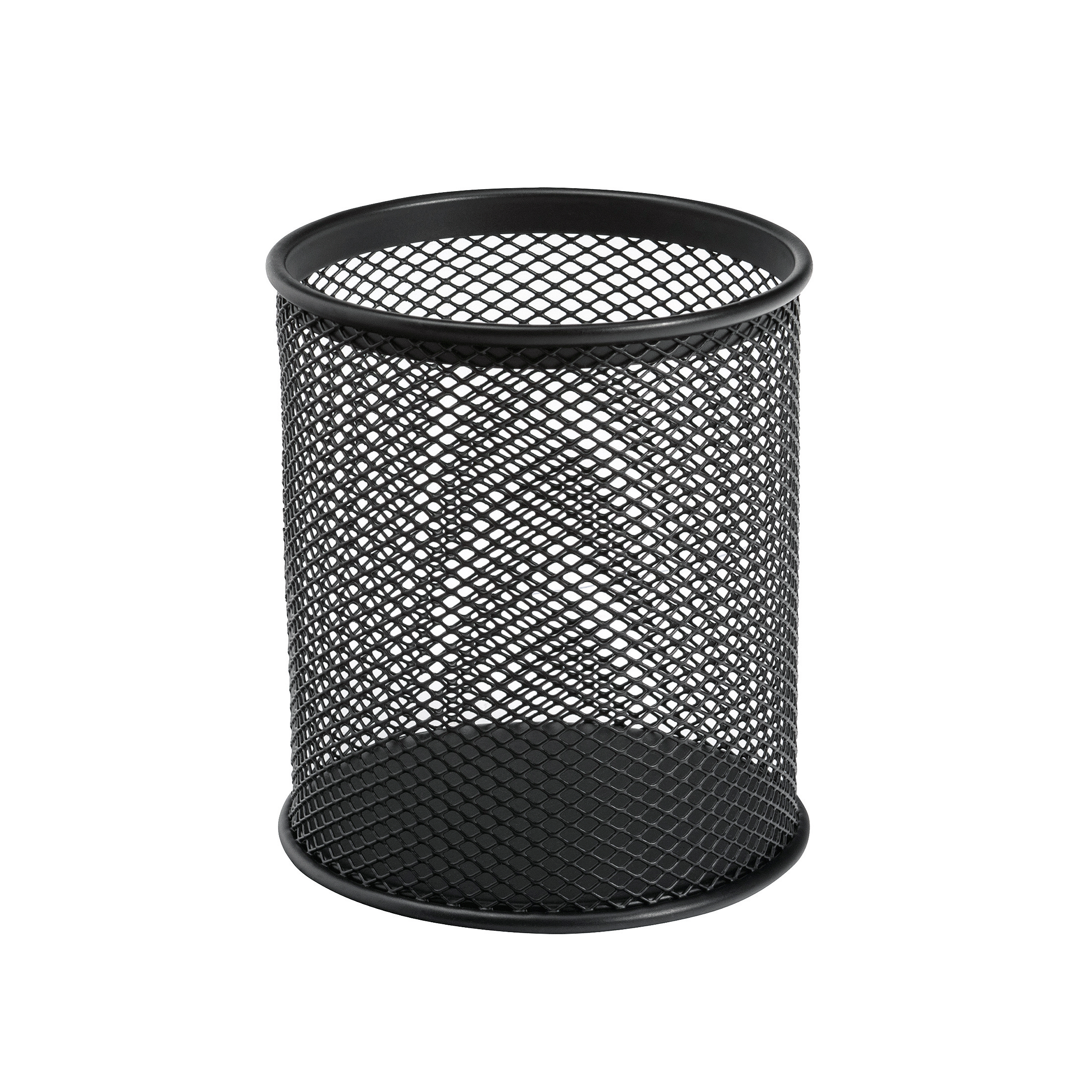 Desk Tidies 5 Star Office Pen Pot Wire Mesh DiaxH: 80x95mm Black
