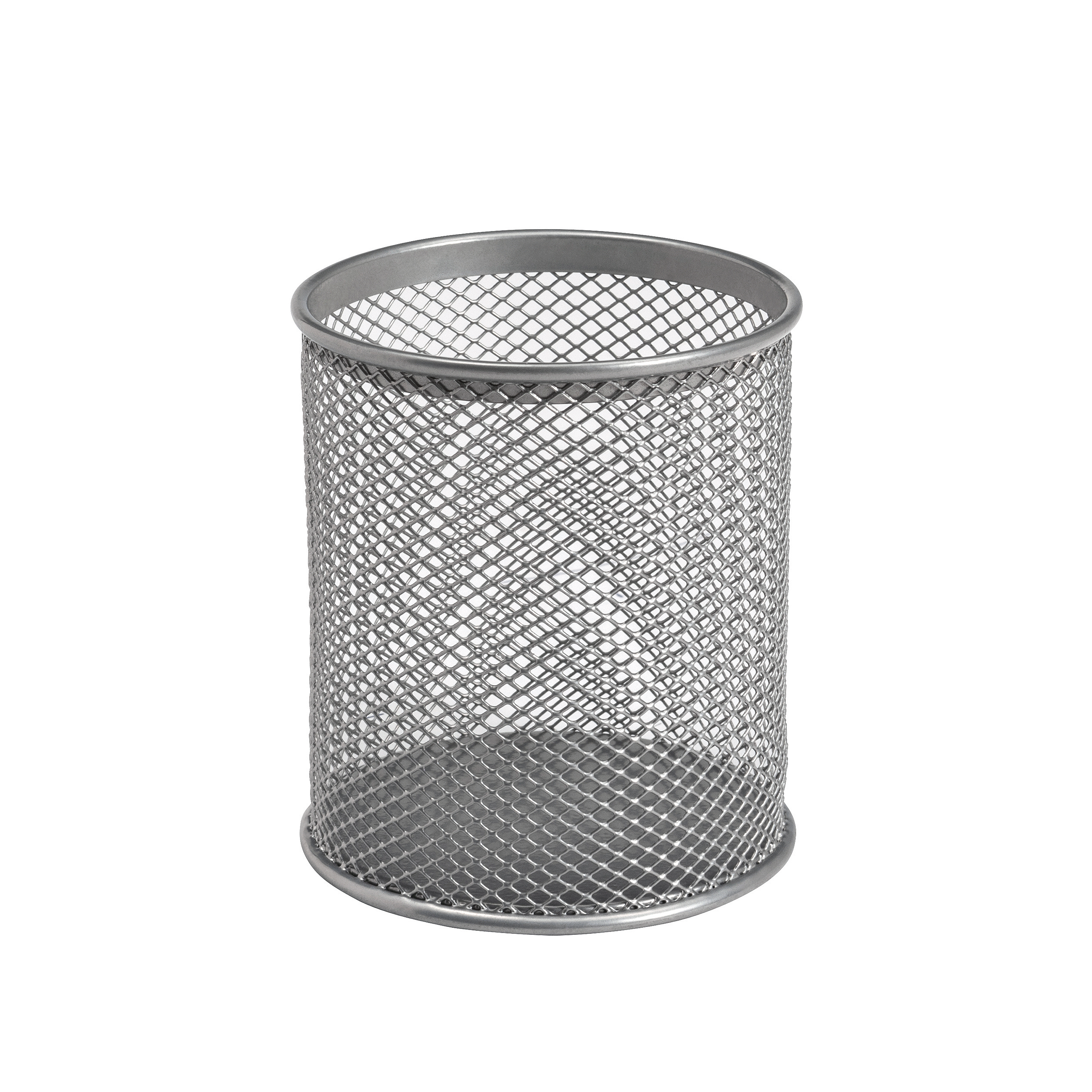 Desk Tidies 5 Star Office Pen Pot Wire Mesh DiaxH: 80x95mm Silver
