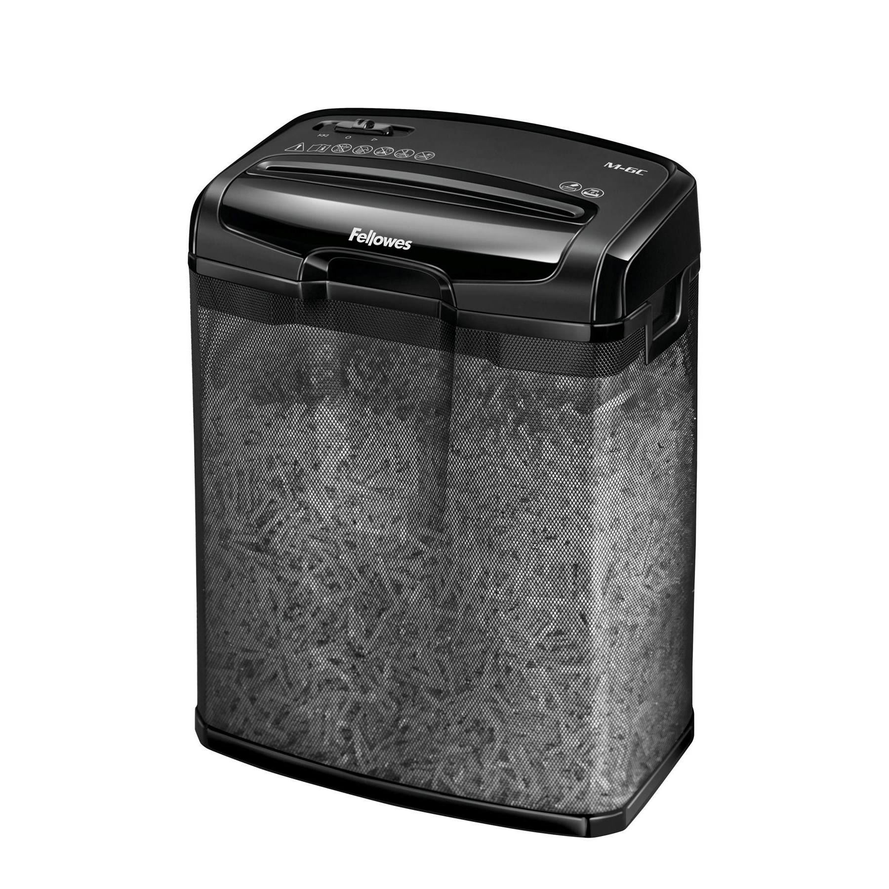 Fellowes M-6C Shredder Cross Cut Ref 4602201