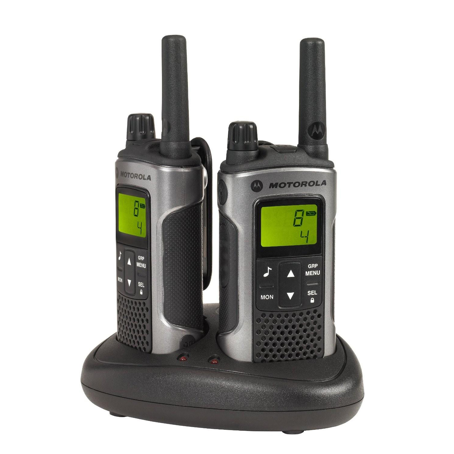 Motorola TLKR T80 2-way Radios Band PMR446 8 Channels 121 Codes Range 10km Ref 50047 Pair