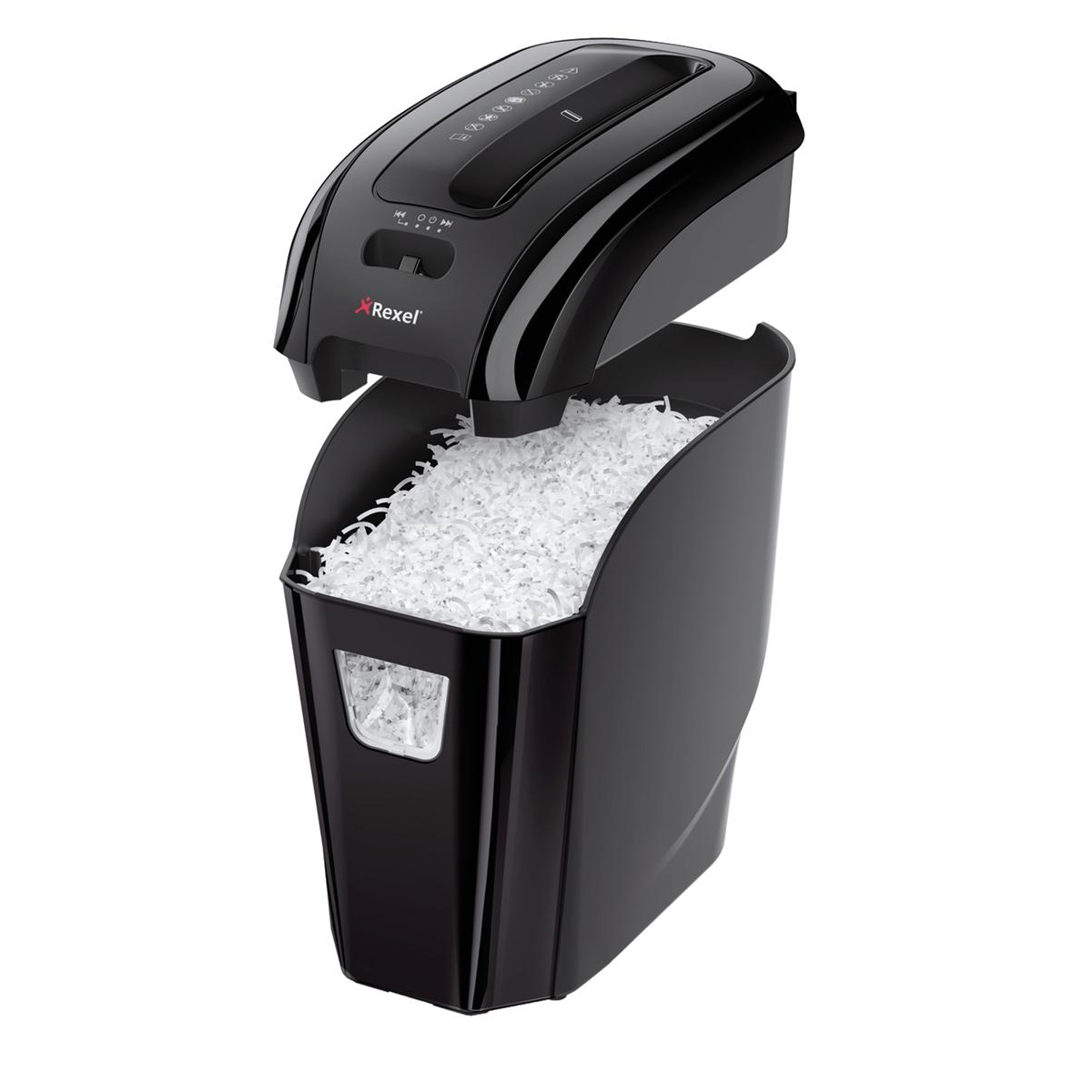 Rexel Prostyle Plus 7 Shredder Cross-cut P-4 12 Litre Capacity Ref 2104007