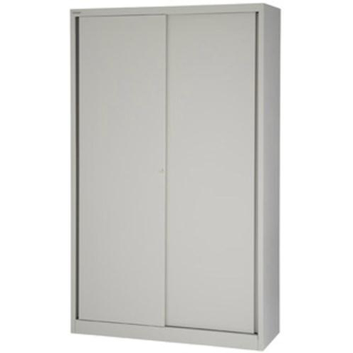 Bisley Sliding Door Cupboard inc 4 Shelves 1200x430x1980mm Grey Ref SD412/19/4S-av4 Ref SD412/19/4S-av4